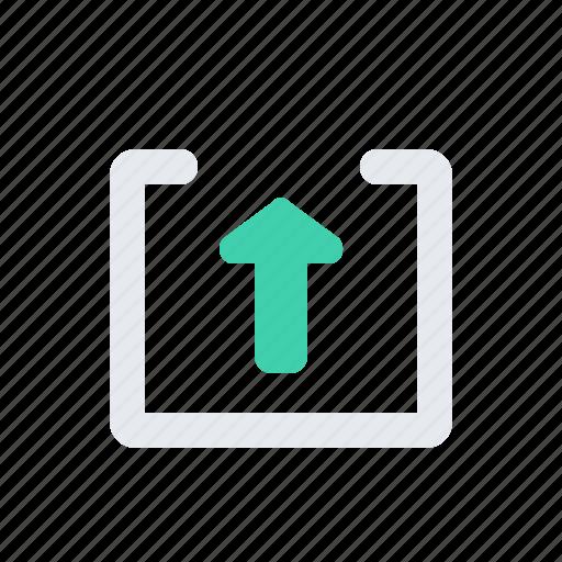arrow, chevron, square, up icon