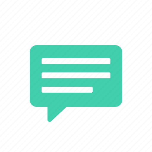 chat, comment, speech, talk, text icon