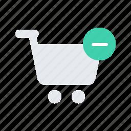 cart, delete, minus, shopping, store icon