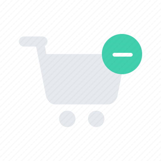 cart, delete, minus, shopping, store icon