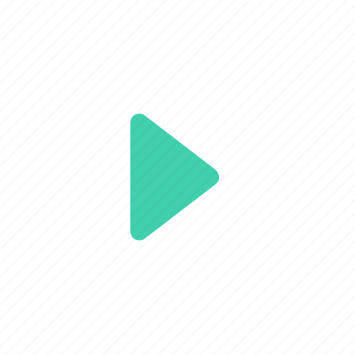 arrow, green, left, play, video icon