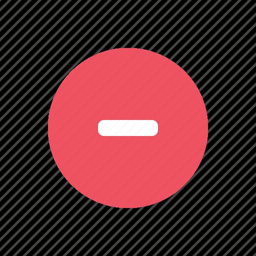delete, minus, remove icon