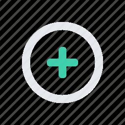 add, plus, round icon