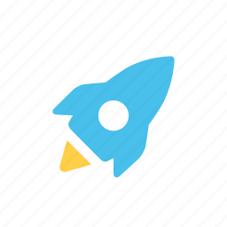 fly, launch, rocket, space, startup icon
