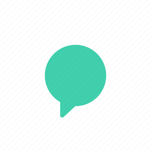 bubble, chat, comment, conversation, round, talk, text icon