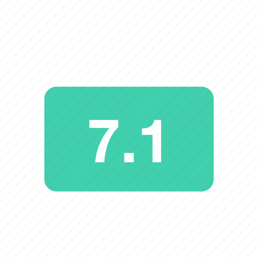 dolby 7.1, quality, sound, sound system icon