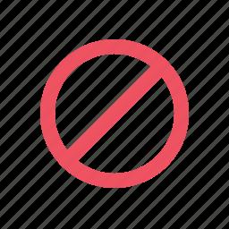 ban, lock, unable icon