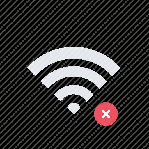 connection, error, network, no signal, no wi-fi, wi-fi icon