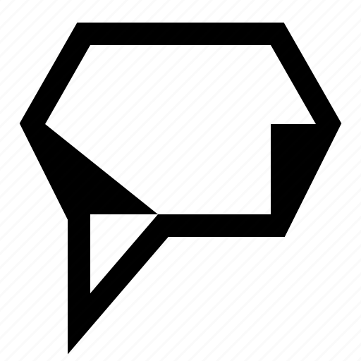 message, note, quote, speech bubble icon