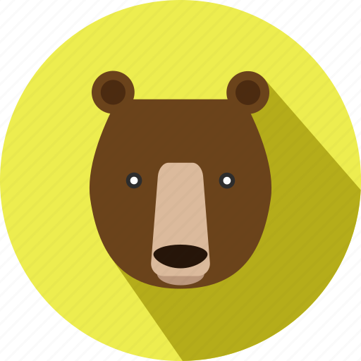 animal, animals, bear, cc, cute, forest, wild icon