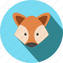 animal, animals, cc, cute, fox, head, wild icon