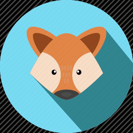 animal, animals, cc, cute, fox, head, wild icon