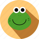 animal, animals, cc, cute, face, frog, wild icon