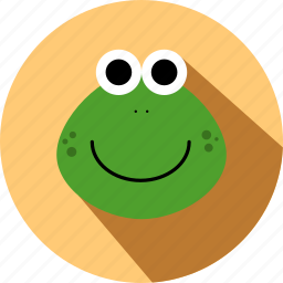 animal, animals, cc, cute, face, frog, wild icon