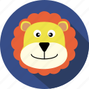 animal, bear, cc, cute, head, lion, wild icon