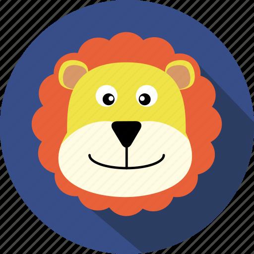 animal, bear, cc, cute, head, lion, wild icon