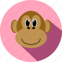 animal, animals, cc, cute, monkey, wild, zoo icon