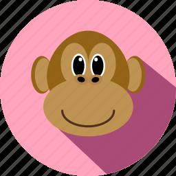 animal, animals, cc, cute, monkey, wild, zoo icon