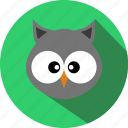 animal, animals, bird, cc, cute, owl, zoo icon