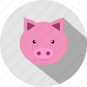 animal, animals, cc, cute, pig, piggy icon