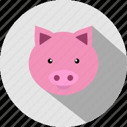 animal, animals, cc, cute, pig, piggy icon