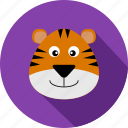 animal, animals, cc, orange, tiger, violet, wild icon