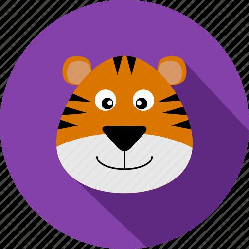animal, animals, cc, orange, tiger, violet, wild icon