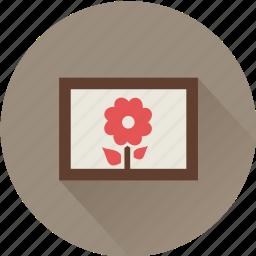 art, artist, artwork, flower icon