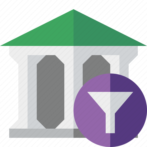 bank, banking, building, business, filter, finance, money icon
