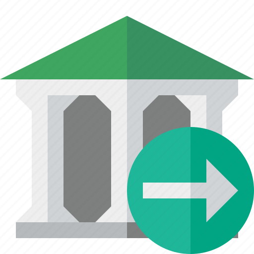 bank, banking, building, business, finance, money, next icon