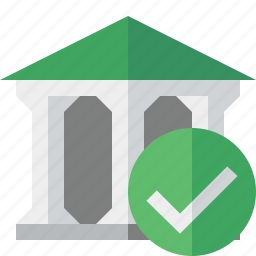 bank, banking, building, business, finance, money, ok icon