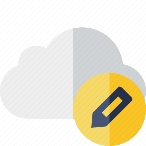 cloud, edit, network, storage, weather icon