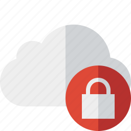 cloud, lock, network, storage, weather icon