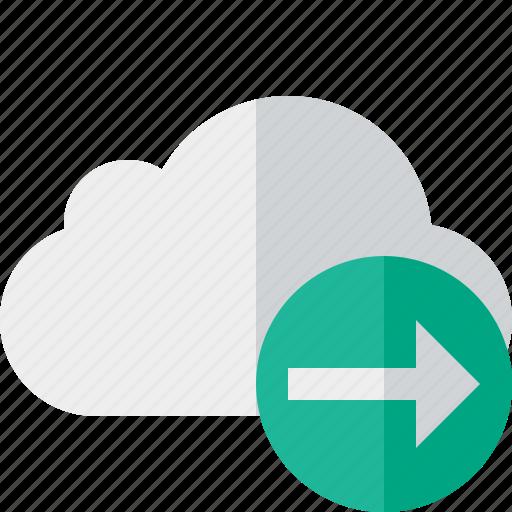 cloud, network, next, storage, weather icon