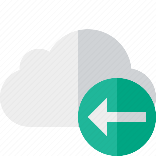 cloud, network, previous, storage, weather icon