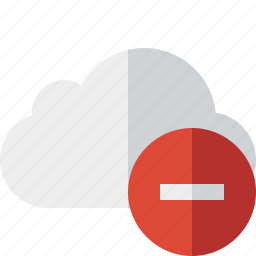 cloud, network, stop, storage, weather icon