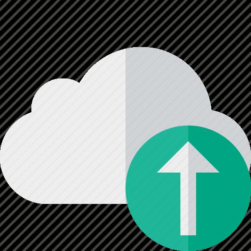 cloud, network, storage, upload, weather icon