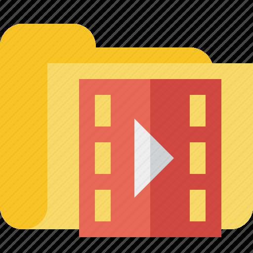 film, folder, media, movie, video icon