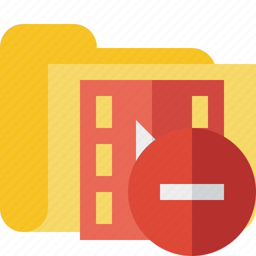 film, folder, media, movie, stop, video icon