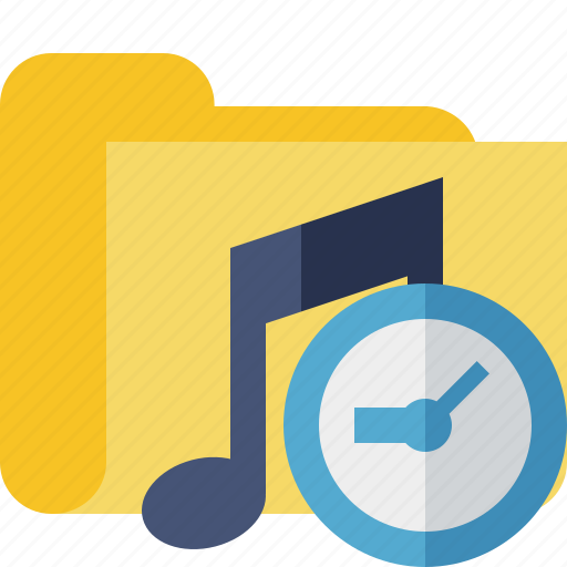 audio, clock, folder, media, music, songs icon