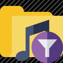 audio, filter, folder, media, music, songs icon