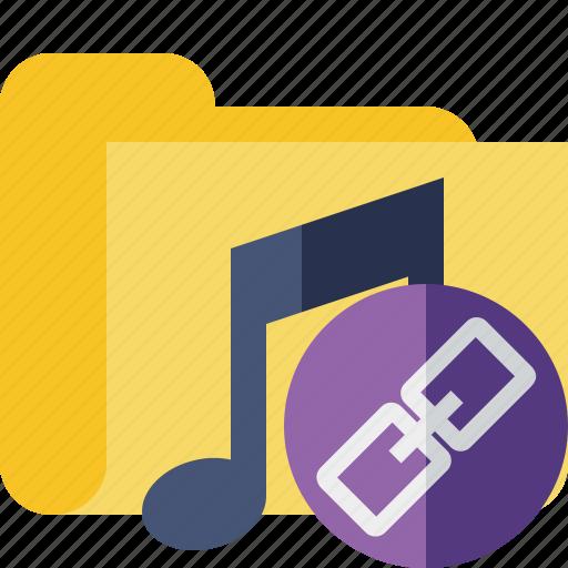 audio, folder, link, media, music, songs icon