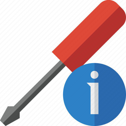 information, repair, screwdriver, tool, tools icon