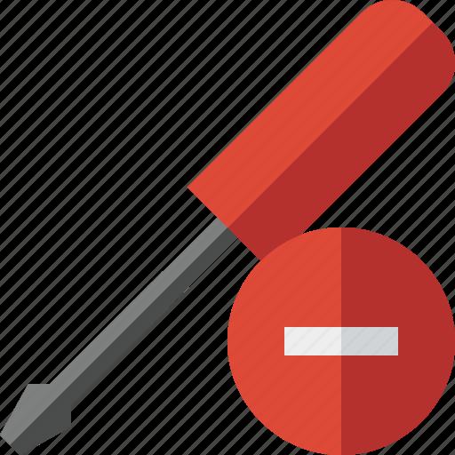 repair, screwdriver, stop, tool, tools icon