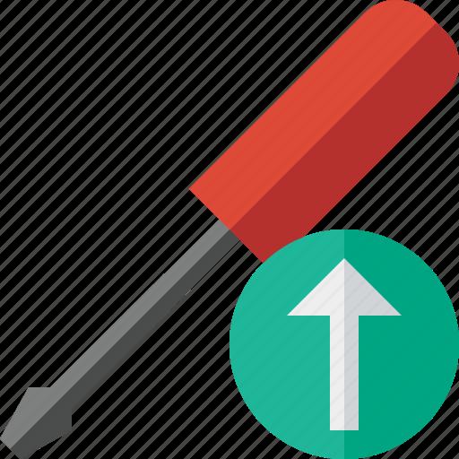repair, screwdriver, tool, tools, upload icon