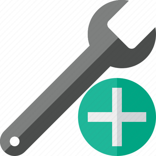 add, repair, spanner, tool, wrench icon