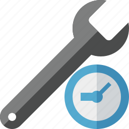 clock, repair, spanner, tool, wrench icon