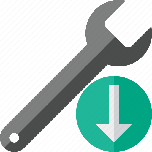 download, repair, spanner, tool, wrench icon