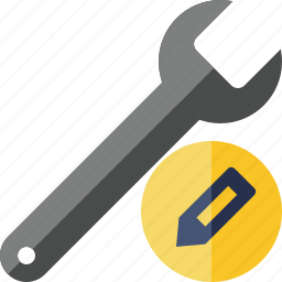 edit, repair, spanner, tool, wrench icon