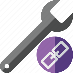 link, repair, spanner, tool, wrench icon